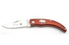 Couteau pliant de poche lame de 7 cm   Décor sanglier