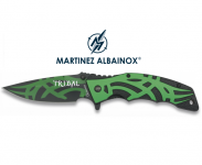 Couteau Pliant TRIBAL / Vert et Noir