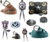 14 - Ceinture, Boucle ceinture/Bolo Tie