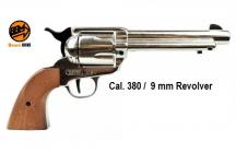 COLT  Western à Blanc Cal 9mm   Réplique Modèle 1873 Nickelé