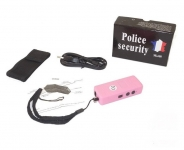 Mini shocker electrique rose  2 000 000 Volts avec Lampe Led