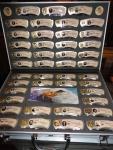 Coffret collection de couteaux  des 43 1er présidents des USA