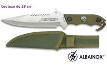 Couteau Tactique HORIZON Vert 29 cm