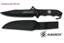 Couteau Tactique HORIZON Noir 29 cm