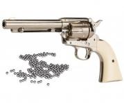 Revolver à billes acier  COLT  S.A.A.45  Finition  NICKELEE