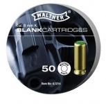 Cartouches de Défense  'Walther'  x50  Cal. 8 mm PISTOLET ou CARABINE