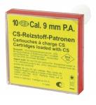 Cartouches de Défense GAZ CS  pour  PISTOLET  Cal. 9 mm
