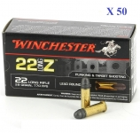 Cartouches 22LR Z Winchester  boite de 50