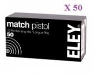 Cartouches 22LR ELEY  MATCH  X 50