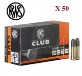 Cartouches 22LR  RWS CLUB X 50
