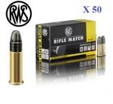 Cartouches 22LR  RWS RIFLE MATCH  X 50