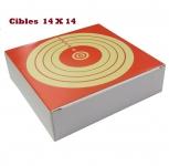 Cible Carton  14 X 14  (paquet de 100)