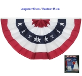 Drapeau independence USA plissé