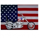 Drapeau nylon USA Moto  de 150 x 90