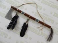 Tomahawk Amérindien recouvert de Rawhide de 59 cm
