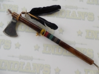 Tomahawk Amérindien recouvert de Rawhide de 51 cm