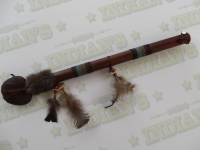 Casse tête Amérindien recouvert de Rawhide de 62 cm
