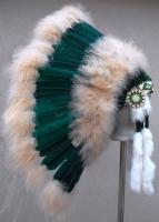 Coiffe indienne Navajo de 36 pouces  Made in USA ( Mod.MEADOW Bleu Vert )