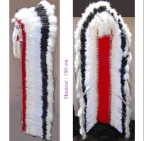 Coiffe indienne Navajo de 68 pouces  Made in USA ( Mod. BLACK CLOUD )