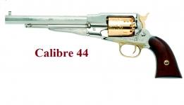 Revolver à poudre noire Remington Nickelé 1858 Cal. 44