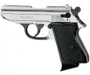 Pistolet Auto LADY Nickelé Chrome (Réplique)