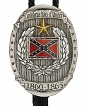 Bolotie motif  confédéré  avec couronne