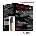 Cartouches 22LR  M22 Winchester  X 400