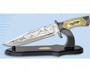 Couteau  fantaisie Décoré LOUP 37 cm