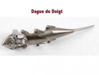Dague de Doigt décoré tête de mort