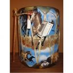 Drum amérindien en Rawhide  ( Décor chevaux)