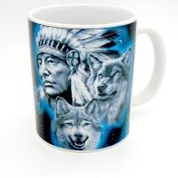 Mug « Chef indien et loups »