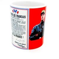 Mug Vive le France  par le Général de Gaulle