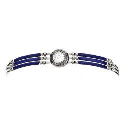 Bracelet 3 Fils Conchas Lapis Lazuli
