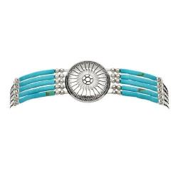 Bracelet 5 Fils  Conchas Turquoise