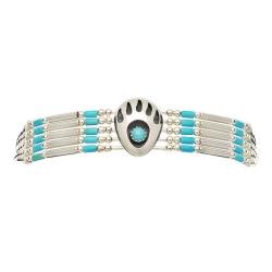 Bracelet 5 Fils Patte d'Ours Turquoise