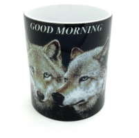 Mug  couple de Loup  Good morning