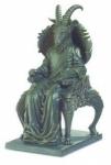 Statue SATAN sur trone   Hauteur 23 cm