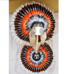 Coiffe indienne et Bustel Navajo de 36 pouces  Made in USA  ( Mod.THUNDERBIRD )