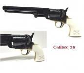 Revolver à poudre noir Mod Confédéré Navy Yank 1851 Cal. 36