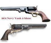 Revolver Colt 1851 Navy Yank acier