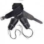 Ceinturon double holster noir + balles pour 2 revolvers western