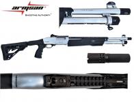 Fusil à pompe Armsan  Mod.RS-X2 nickelé  Cal 12/76