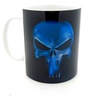 Mug logo punisher bleu