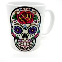 Mug tête de mort mexicaine fond blanc