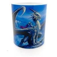 Mug  dragon et cavalier