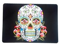 Tapis de souris  « Tête de mort mexicaine sur fond noir »