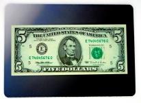 Tapis de souris « Billet de 5 dollars »