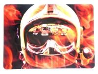 Tapis de souris  « Casque pompier effet miroire »