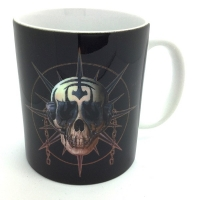 Mug tête de squelette tribal
