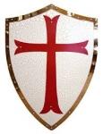 BOUCLIER  Médiéval TEMPLIER  de  62 cm